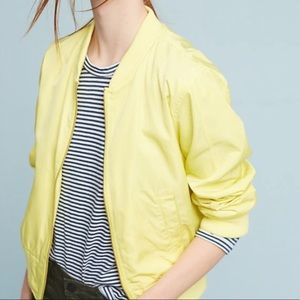 Anthropologie Hei Hei Yellow Bomber
